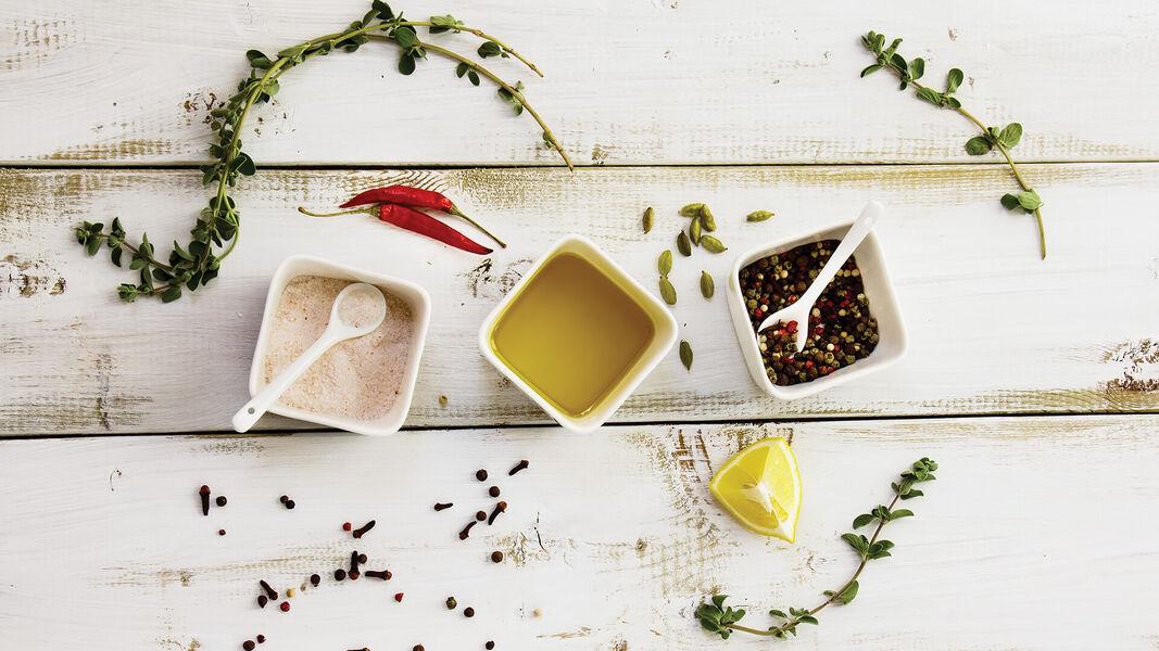 Gewürzten Olivenöle